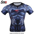 Marvel Comic Compression T Shirt Batman vs Superman Tight  Bodybuilding Costume Tracksuit Iron Man Plus size Dawn of Justice