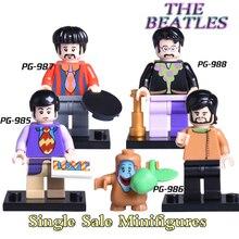Building Blocks The Beatles Diy figures Starkey Lennon James Paul McCartney Richard Educational Models Bricks Kids Toys PG8030