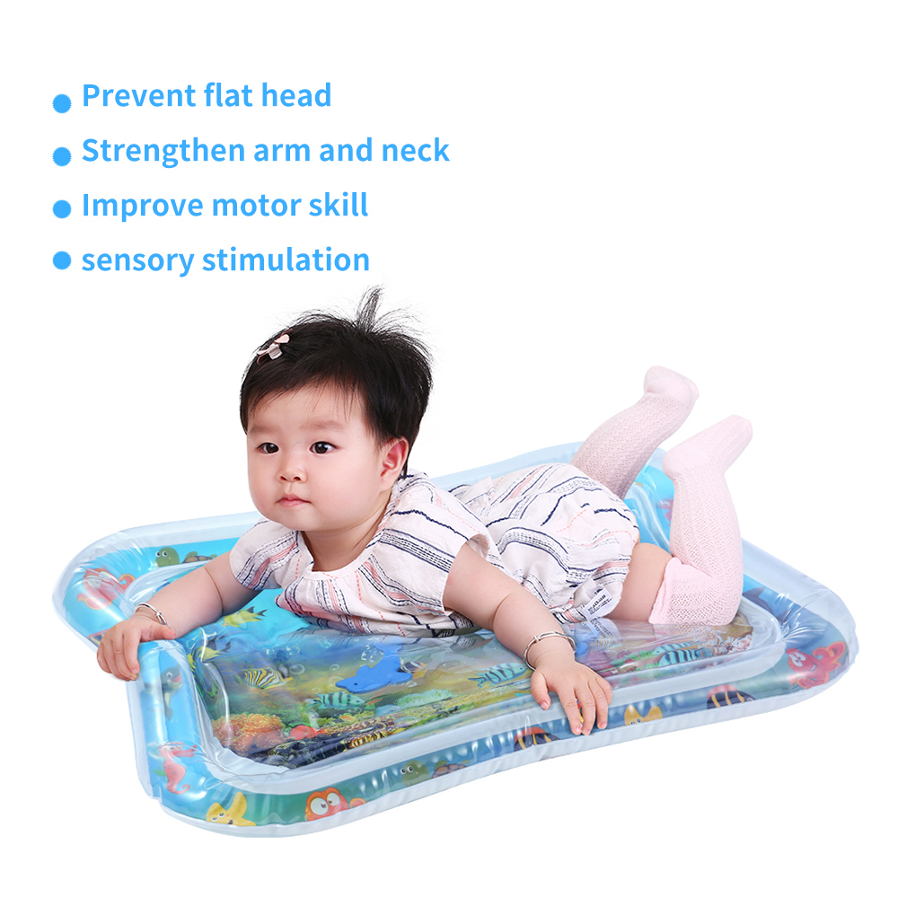 HTB1dWtgRbvpK1RjSZPiq6zmwXXaQ Baby Kids Water Play Mat Toys Inflatable thicken PVC infant Tummy Time Playmat Toddler Activity Play Center water mat for babies