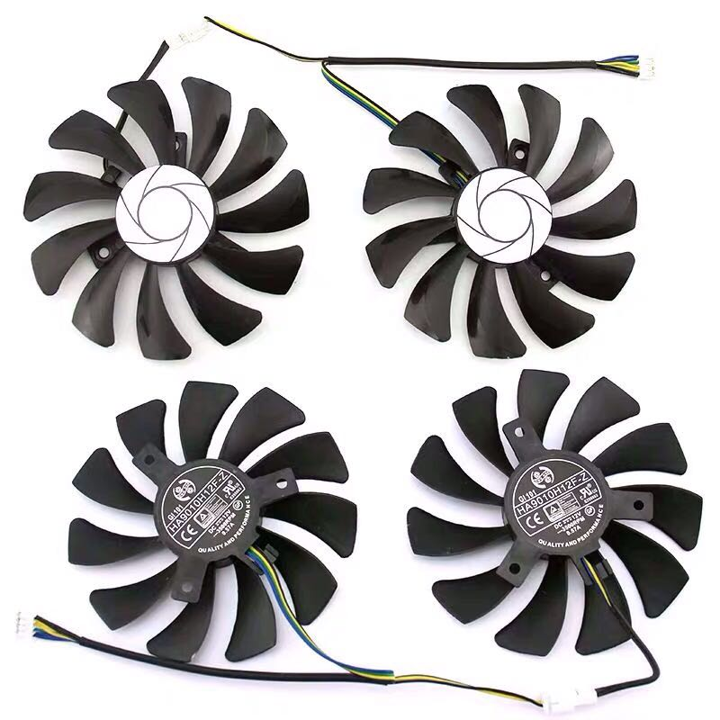 Image 2 - New 85MM HA9010H12F Z 4Pin Cooler Fan Replacement For MSI GTX 1060 OC 6G GTX 960 P106 100 P106 GTX1060 Graphics Card Fan-in Laptop Cooling Pads from Computer & Office