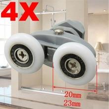 20 мм/23 мм 4 шт./компл. Ванная комната Двойные ролики для душевой двери колеса дверные направляющие ползунки Mayitr Лидер продаж