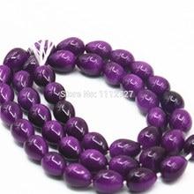 Hot 7x9mm Accessories Imitation Pearl Purple Glass Beads Wholesale Diy Loose Stone Fashion Jewelry Making 11.11 Wholesale