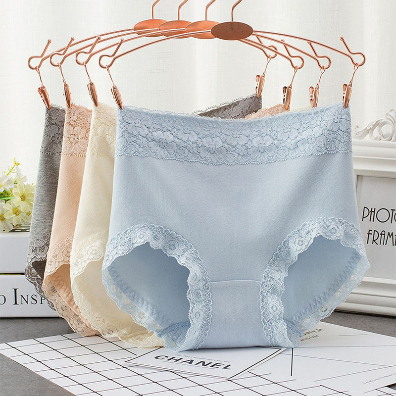 Womens Sexy Lace Panties High Waist Women Seamless Cotton Underwear Plus Size XXL Breath ...