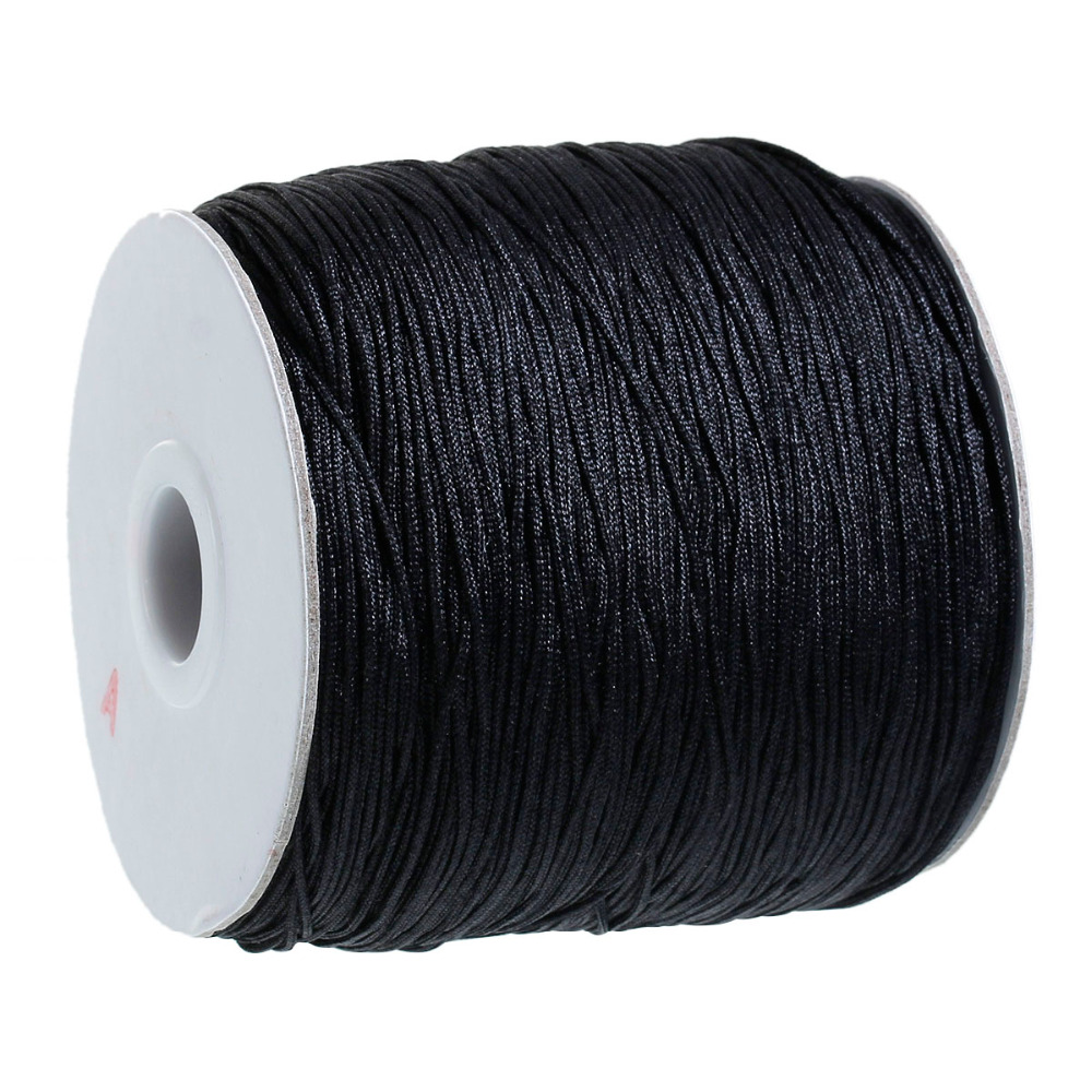 DoreenBeads Black Chinese Knot Beading Nylon Cord 1mm,360M/Roll, sold per lot of 1 roll(360M) (B17068), yiwu