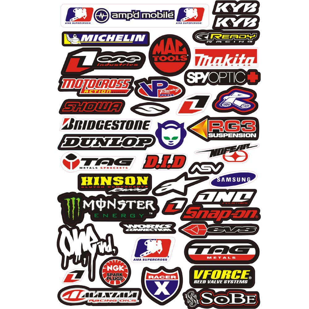 New Pcs M GRAPHIC Car Sticker Motorcycle Decals Stickers For - Motorcycle stickers