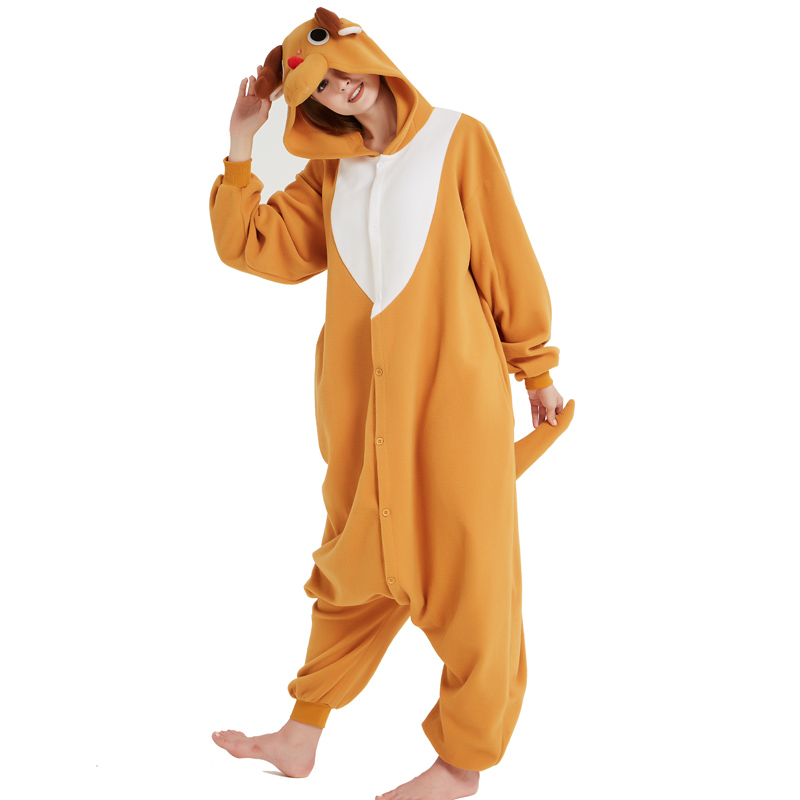 Funny Christmas Elk Kigurumi Onesie Animal Deer Jumpsuit Sleepwear Adult Pajamas Polar Fleece For Halloween Pyjamas Home Party (8)