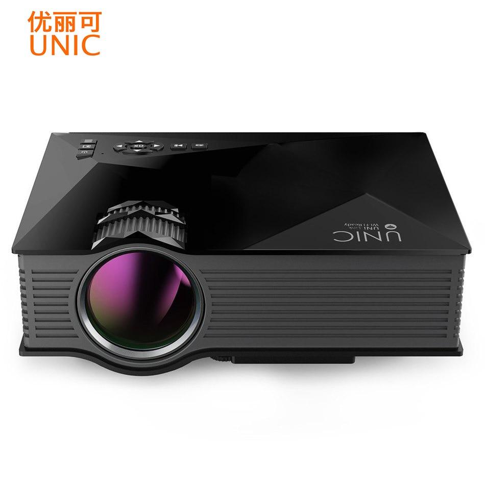 Unic uc46 WI-FI Беспроводной мини Портативный проектор 1200 люмен полный LED видео домашнего Кино Проекторы Бизнес HDMI проектор PK X7 UC40