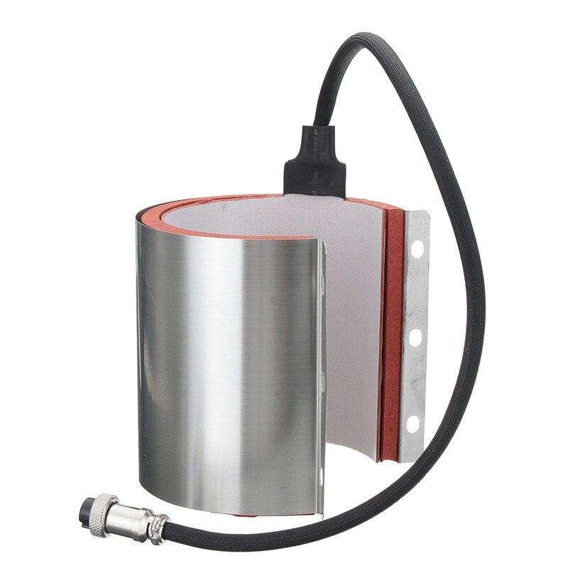 220 V 11O-Z Divers Tasse Tapis Chauffage Élément Wrap Attachement Tasse de Chaleur Pour La Machine De Presse En Acier Inoxydable
