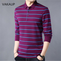 2018 New Winter Mens Sweater Thickened Long Sleeve Stripe Bottom Polo Shirt Men Turn Lapel Top Three Colors Keep Warm Clothing