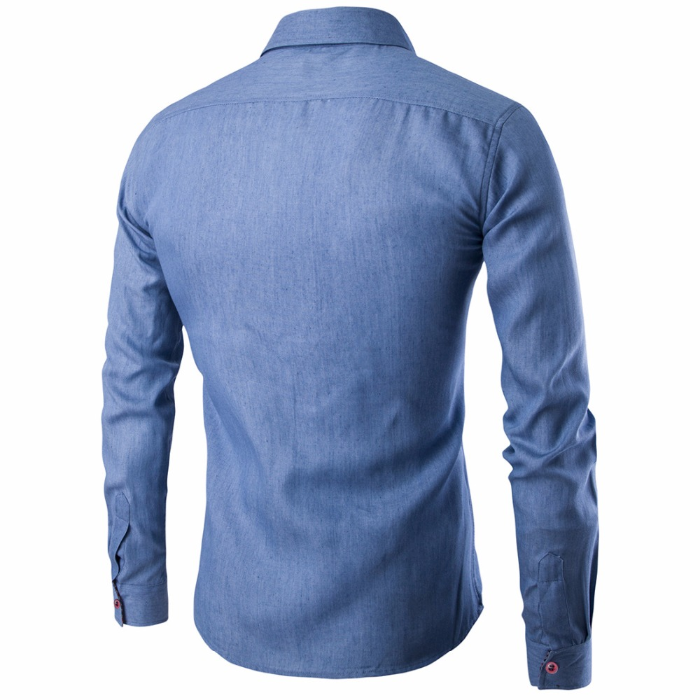 2017 New Arrival White Business Men Dress Shirts Luxury Brand Long Sleeve Cotton Stylish High Quality Males Social Shirts in T Shirts from Men 39 s Clothing