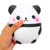 14CM Panda Egg Jumbo Squishy Phone Straps DIY Decor Slow Rising Kawaii Animal Kids Doll Toys