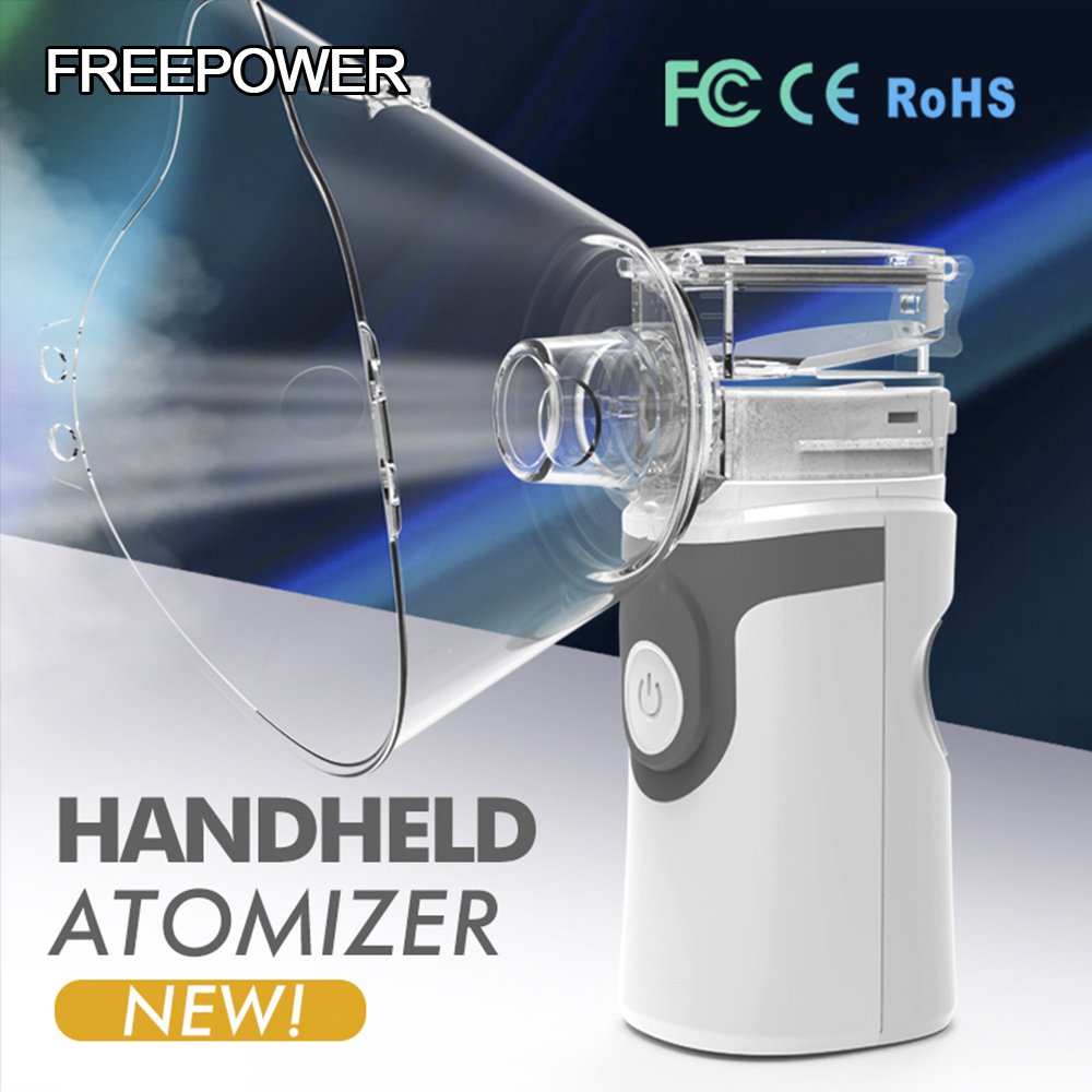 Health Care Asthma Inhaler Mini Automizer Children Adults Care USB Rechargeable Inhale Nebulizer Home Ultrasonic Mesh