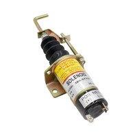 Válvula de solenoide de cierre de combustible para coche de carreras CNSPEED 1502 12v Solenold Lister Petter Lpw  Genset de motor 366-07197 XS100492