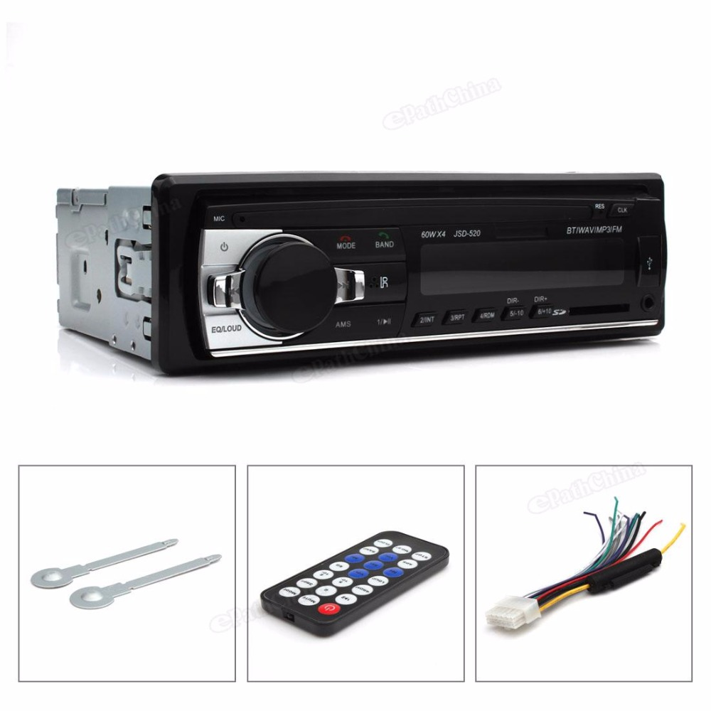 2PCS/LOT Digital Bluetooth Hands-free Car Stereo Audio MP3 / USB / SD / FM Music Player with In Dash Slot rs 1010bt car bluetooth hands free stereo mp3 player