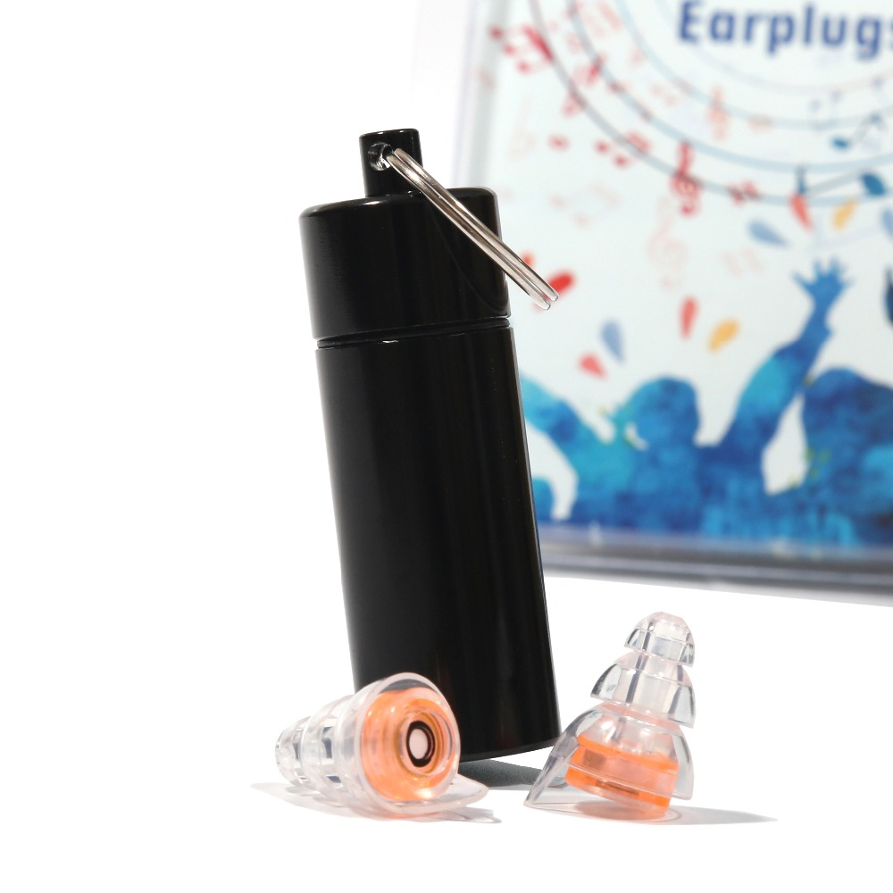 Hearing Protection High Fidelity Musician/Motorcycle Earplug Reusable Noise Cancelling Silicone Ear plugs for Sleep Drummer