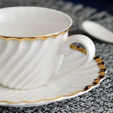 christmas Yuwen Ceramic Coffee Cup and Plate Exquisite Set Hotel Club High-grade Spoon
