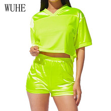 WUHE Casual Two Pieces Sets Short Sleeve Crop Top and Skinny Pants Summer Go Out Sporting Jumpsuits Femme Leisure Playsuits wuhe women fashion o neck short sleeve long swing top and slim pants summer casual two pieces sets playsuits combinaison femme