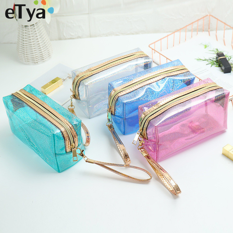 2019 Fashion Women Cosmetic Bag Waterproof Travel Neceser Make Up Bags PVC Beauty Tote Toiletry Wash Makeup Organizer Pouch Box