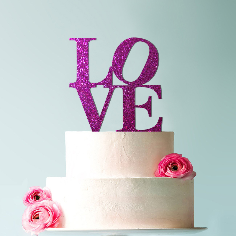 Stunning Philly LOVE Acrylic Cake Topper Gold & Silver Statement Wedding Topper,  Decor