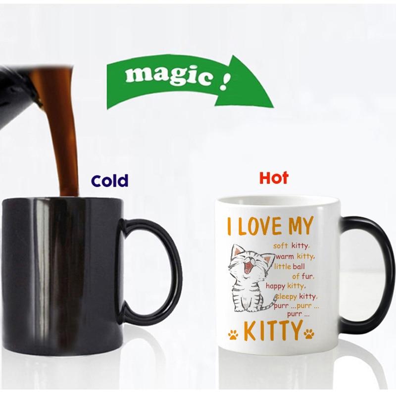 i love my kitty magic mug