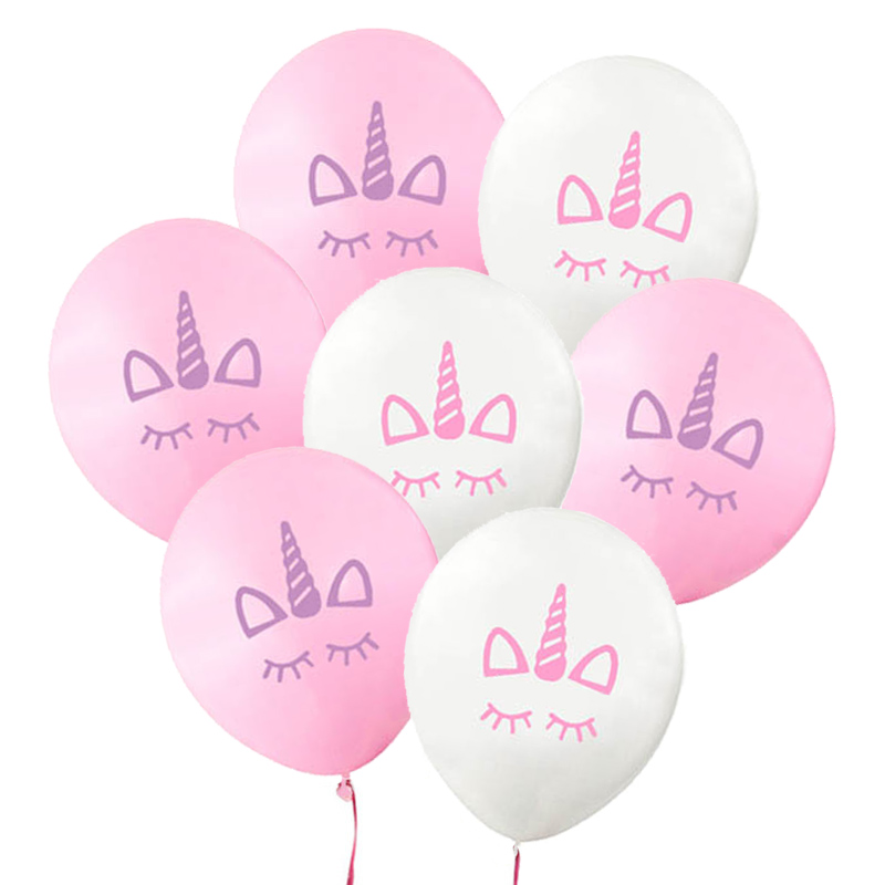 MEIDDING- 10pcs 12inch Unicorn Latex Balloon Birthday Party Baby Shower Pool Party Decor Kids Children Unicorn Party Supplies