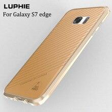 Новый Благородный Роскошные Бампер Для Samsung Galaxy S7 Edge Алюминия чехол Для Samsung S7 Edge SM-9350 9350F Металл Бампер Чехол кожа