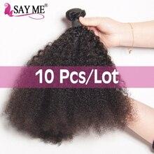 Wholesale 10 Bundles /Lot Mongolian Afro Kinky Curly Hair We