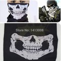2016 NEW CS Cosplay Ghost Skull Black Face Mask Cap Motorcycle Biker Multi functional Skeleton Hat Scarf Balaclava
