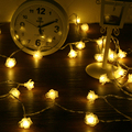 2M 20LED Novelty Rose Flower Battery Operated Lamps LED Fairy String Light Romantic Christmas Garland Wedding Decoration Light