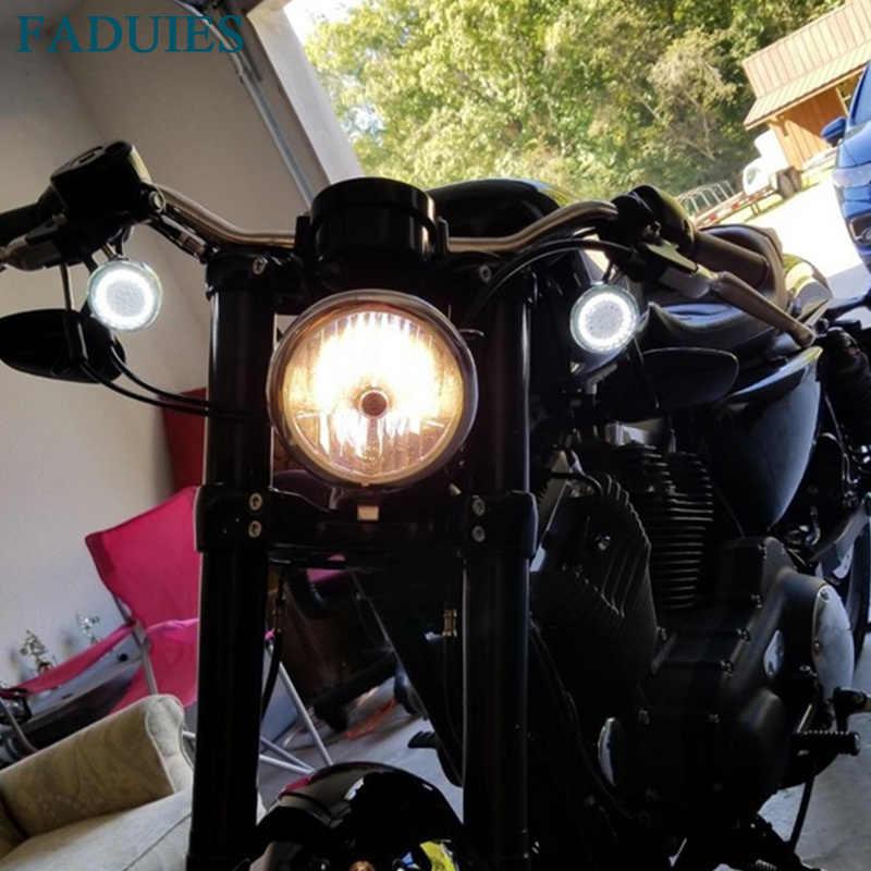 """FADUIES Für Harley Sportster Softail Touring Dyna 2013-2017 Motorrad Licht 2 """"Bullet 1157 LED Einsätze Drehen Signal Panel"""