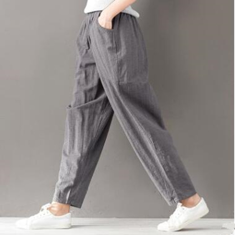2019 new style casual pants women's big size trousers 2