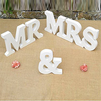 Decoration Mariage MR MRS Wedding Props Wooden English Letters Ornaments Wedding Supplies Capital Bachelorette