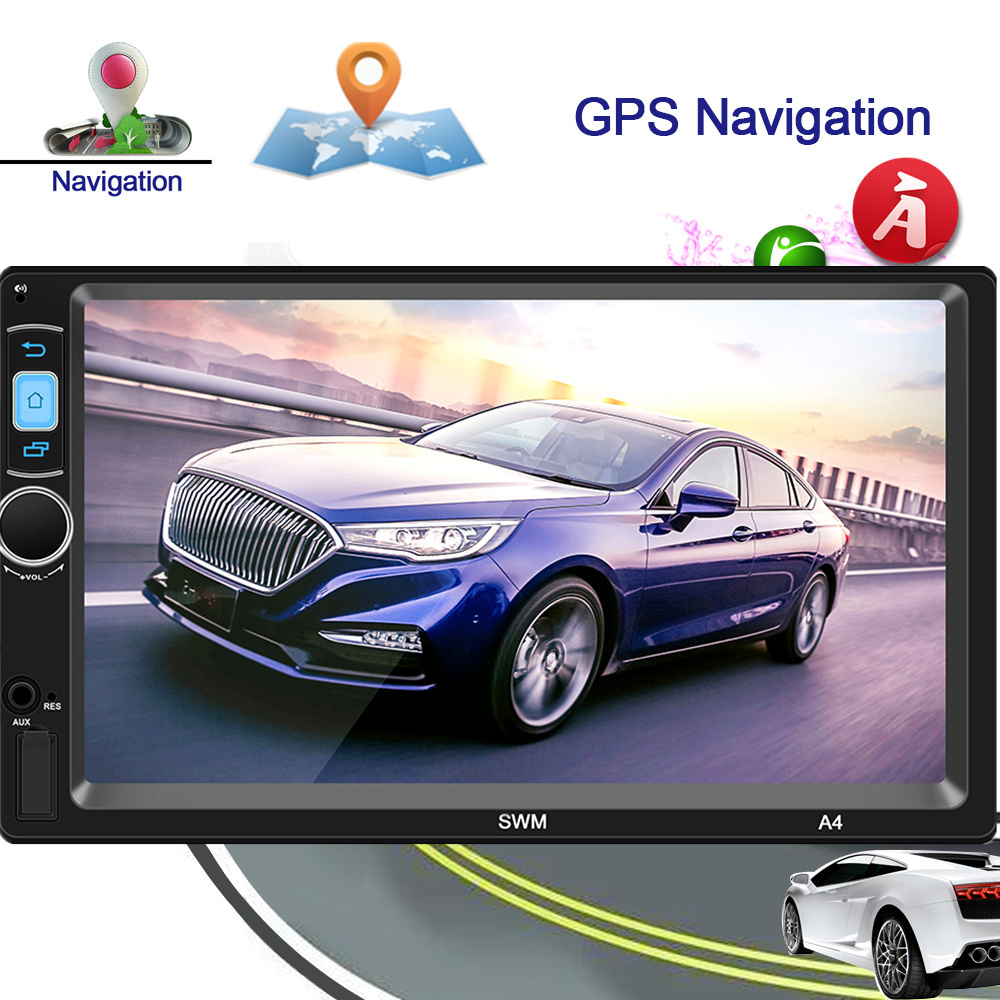 2 Din Android System Car Multimedia Player AM / FM Stereo Radio 7 inch Touch Screen Wifi Bluetooth GPS Navigation2 Din Android System Car Multimedia Player AM / FM Stereo Radio 7 inch Touch Screen Wifi Bluetooth GPS Navigation