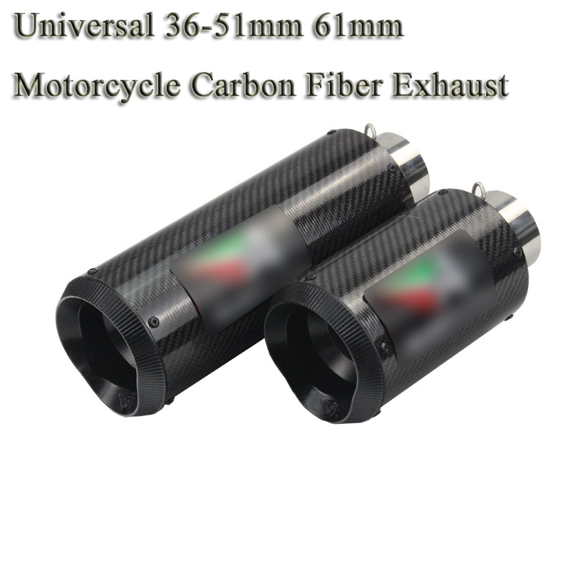 51mm 61mm Universal Motorcycle Exhaust Pipe Escape Modified Motorbike Carbon Muffler Sticker DB Killer For Ducati 696 S1000RR R6 цена