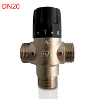 Brass 3/4 DN20 Solar energy thermostatic Mixing Valve thermostatic faucet Water Temperature Control