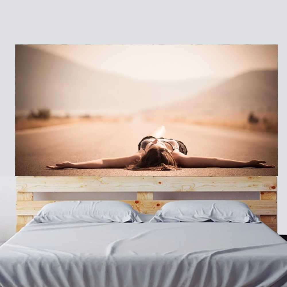 Креативные Очаровательные Романтические шоссе девушка кровать изголовье стены стикеры Наклейка на стену спальня диван обои стены книги по искусству домашний декор