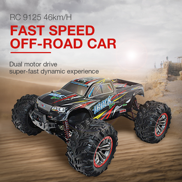 Hot Sales RC Car 9125 High Quality RC Car 46km/H Fast Speed Off-Road Car 1:10 Brushed 4WD Vehicle Buggy Electronic Toy For Boys