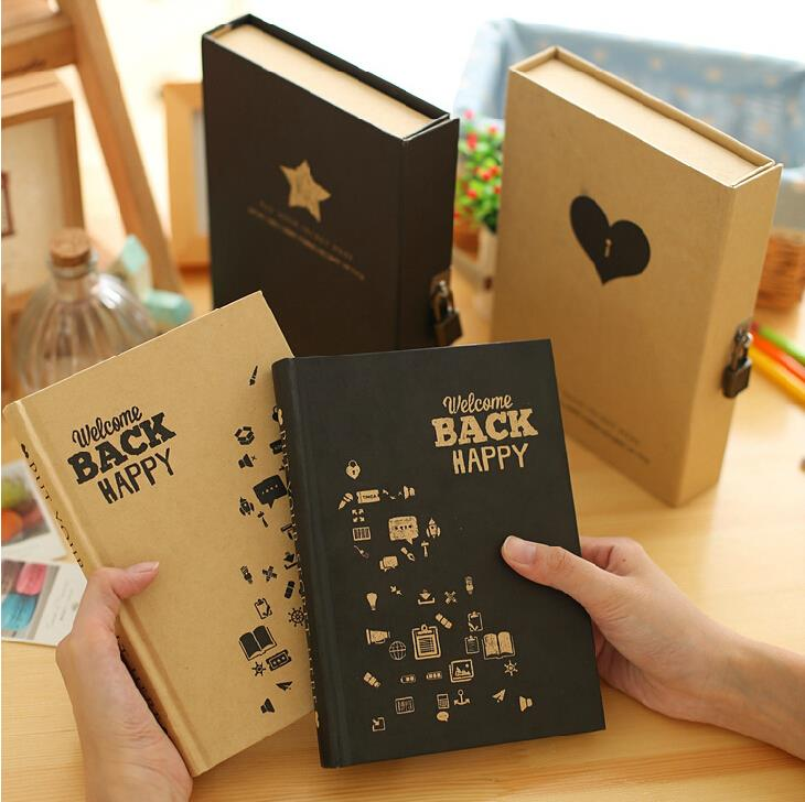 Back to Happy Diary Lock Notebook Gift Pack Cute Functional Planner Lock Book Journal d1406 2sd1406 to 220f
