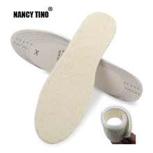 NANCY TINO Unisex Insoles for Shoes Insert Pad Adult/Child Breathable Soft Comfortable Thermal Winter Blended Wool Warm Insole