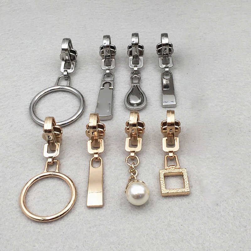 1 Buah Ritsleting Perbaikan Kit Zipper Tarik Logam Dua Sisi Zipper Slider Ritsleting Kepala Diy Pakaian Tas dan Koper aksesoris P074