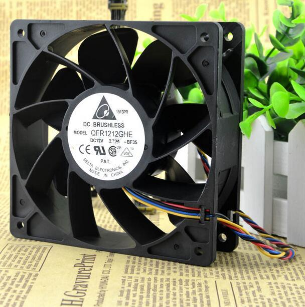 Wholesale Delta QFR1212GHE 12V 2.70A 12038 120*120*38mm 4-line For IBM 74Y5220 Server Cooling Fan new afb1212she 12038 12cm 1 6a 12v 4wire pwm 40cm long line of fan for delta 120 120 38mm