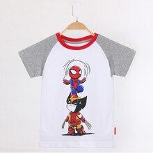 Kids Clothes Superhero Avengers Funny T Shirt Children Clothing 100 Cotton Short Raglan Sleeve Child Baby Girl Boys Tee Shirt raglan sleeve bowknot embellished cut out t shirt