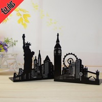 Creative Romantic Tower Shelf Ferris Wheel Of Liberty Book Clip Students Bookends A Pair Of Price