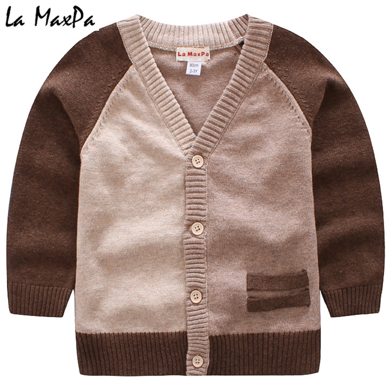 7f00ae8ea 2018 New Spring Autumn Brown Cardigan Coat For Baby Boys Girl Kids ...