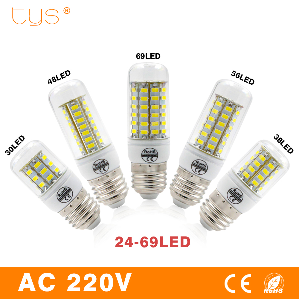 купить LED Lamp E27 5730 SMD 220V Lampada LED Bulb Corn Light 24 30 38 48 56 69LEDs Bombillas LED Light Luz Spot light Lighting Bulb недорого