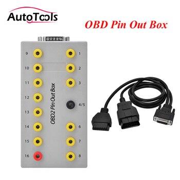 10pcs/lot via DHL FREE Car OBD2 breakout box car pin set tool car break out box obd2 Pin Out Box car tools