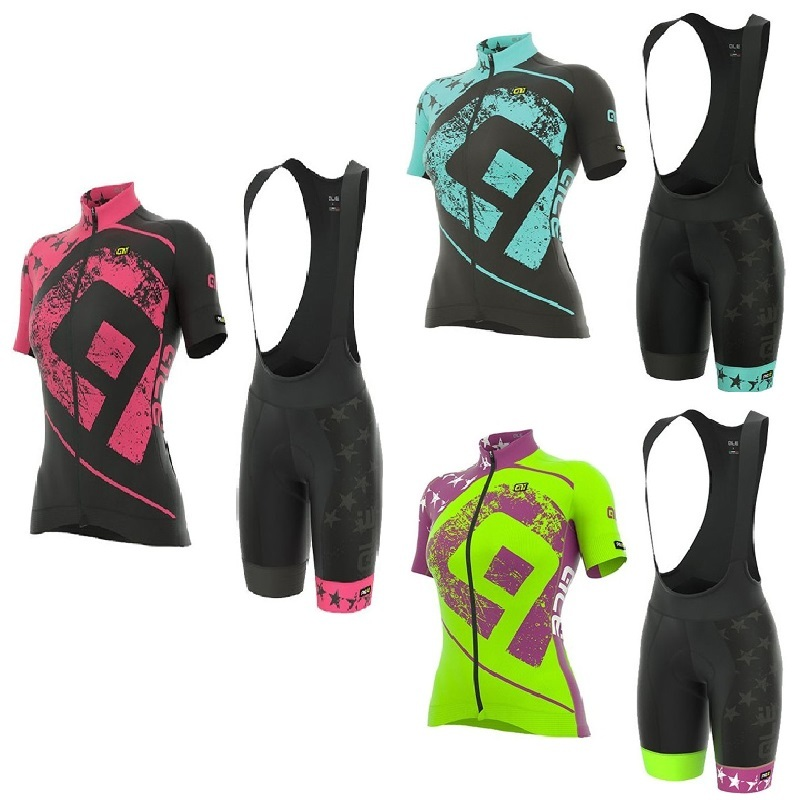 3 Colors Womens Cycling Clothing Mountain Bicycle Clothes Breathable Ropa Ciclismo MTB Bike Wear Summer Cycling Jersey Set ...