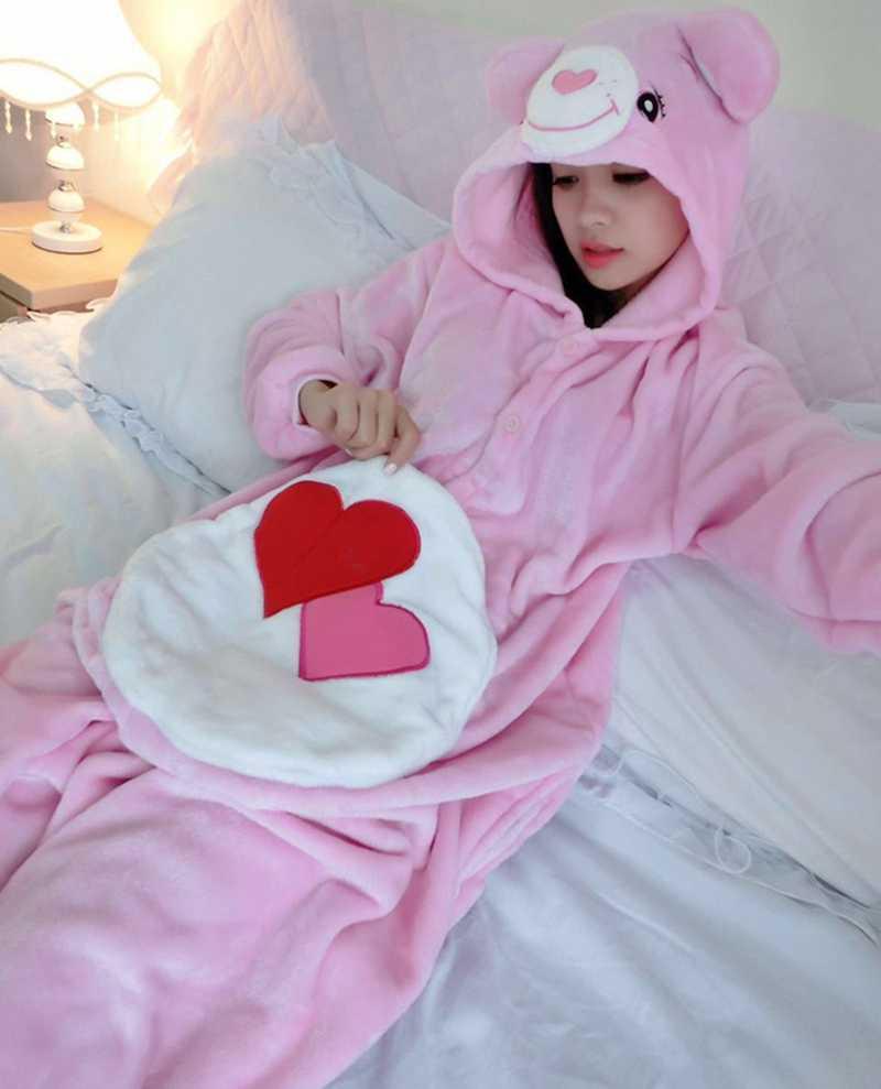 Unisex Care Bear Onesie Pajamas Costume Hoodies Pajama Sleepwear Anime Pajamas  Onesie Costume cosplay 28b99ca56