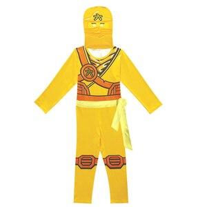 Image 3 - Ninjago 코스프레 의상 소년 의류 세트 어린이 의류 할로윈 멋진 파티 의류 닌자 슈퍼 히어로 정장 소년의 선물