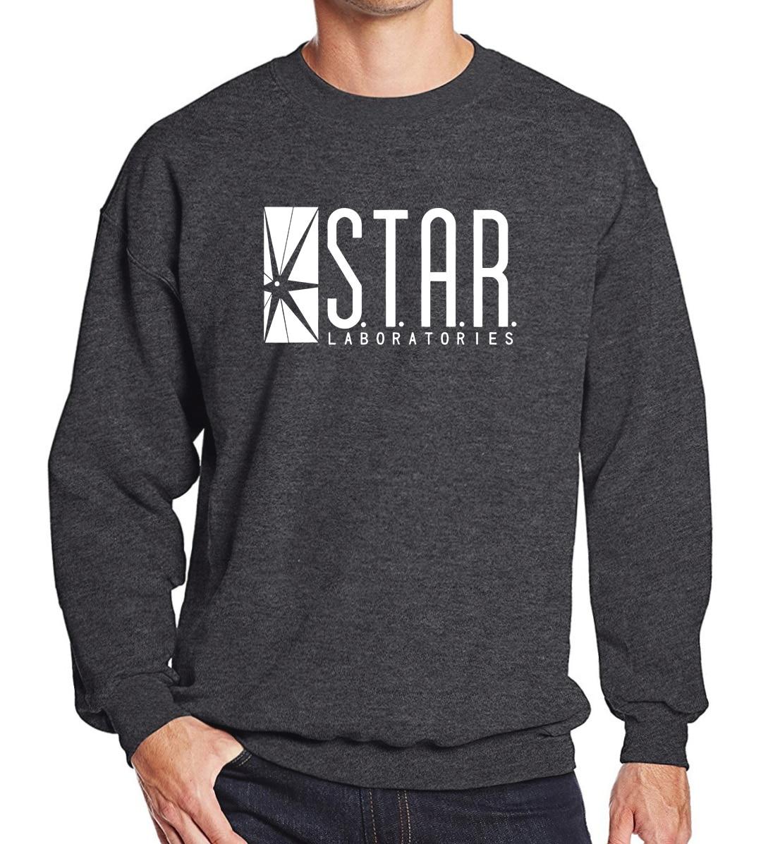 2019 Sweatshirt STAR S.T.A.R.labs Men's Sportswear Superman Series Spring Winter Fleece Hoodies Fashion O-neck Tracksuits
